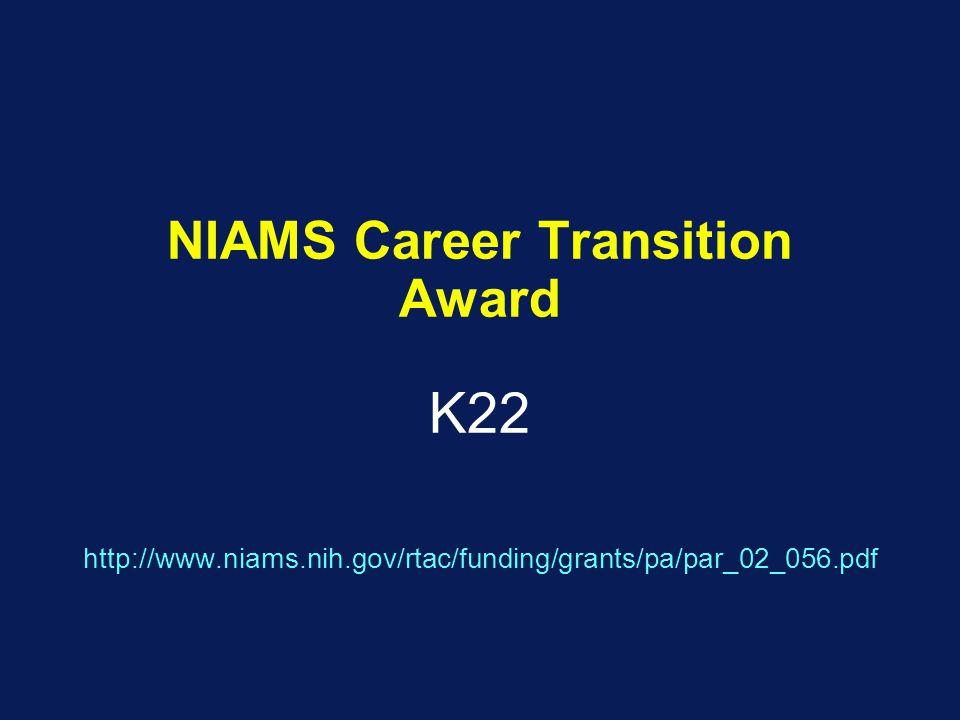 NIAMS Career Transition Award