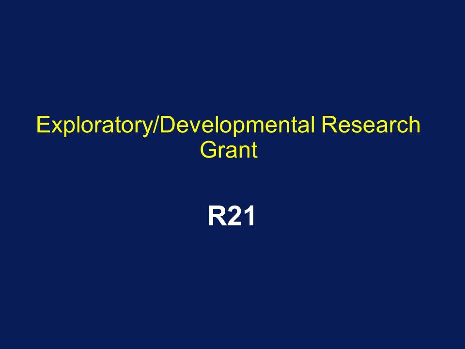 Exploratory/Developmental Research Grant