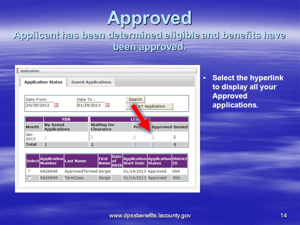 Approved Applicant has been determined eligible and benefits have been approved.