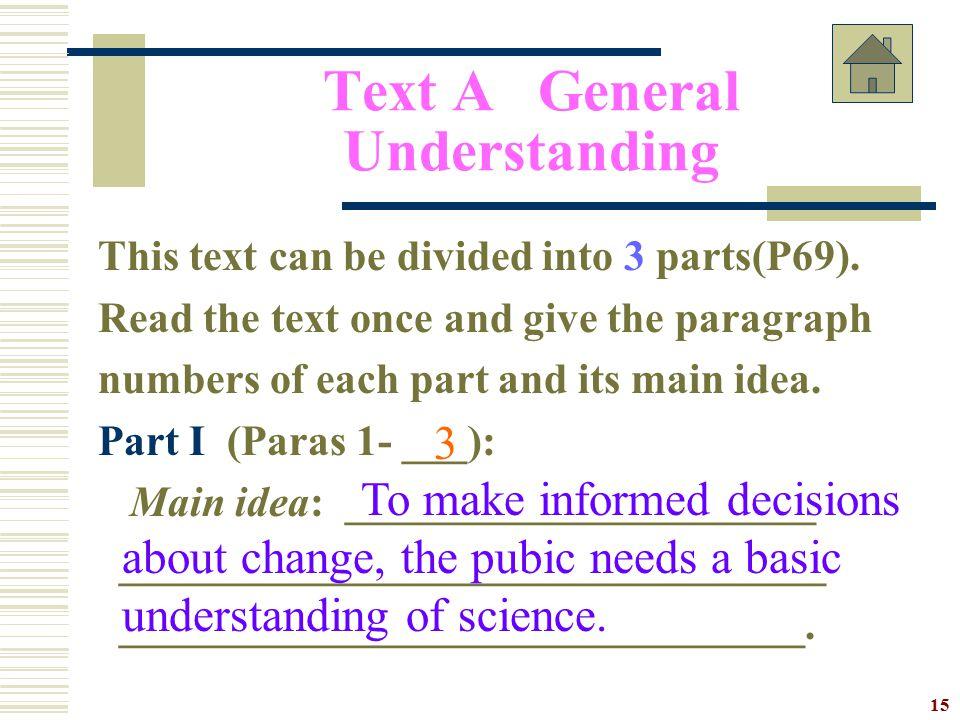 Text A General Understanding