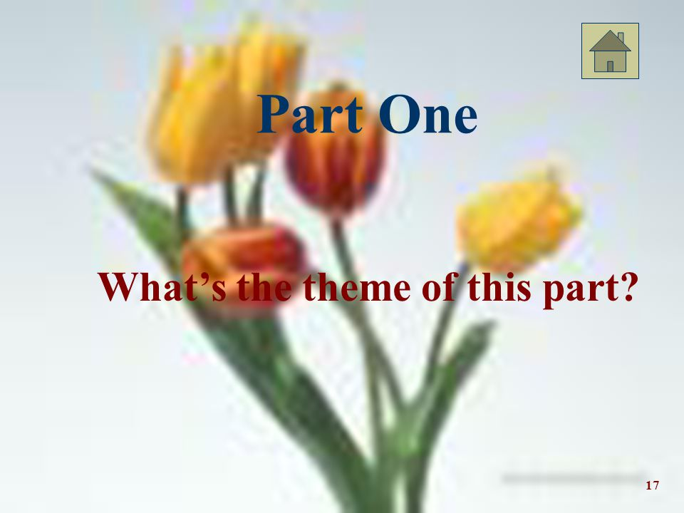 Part One What's the theme of this part 17