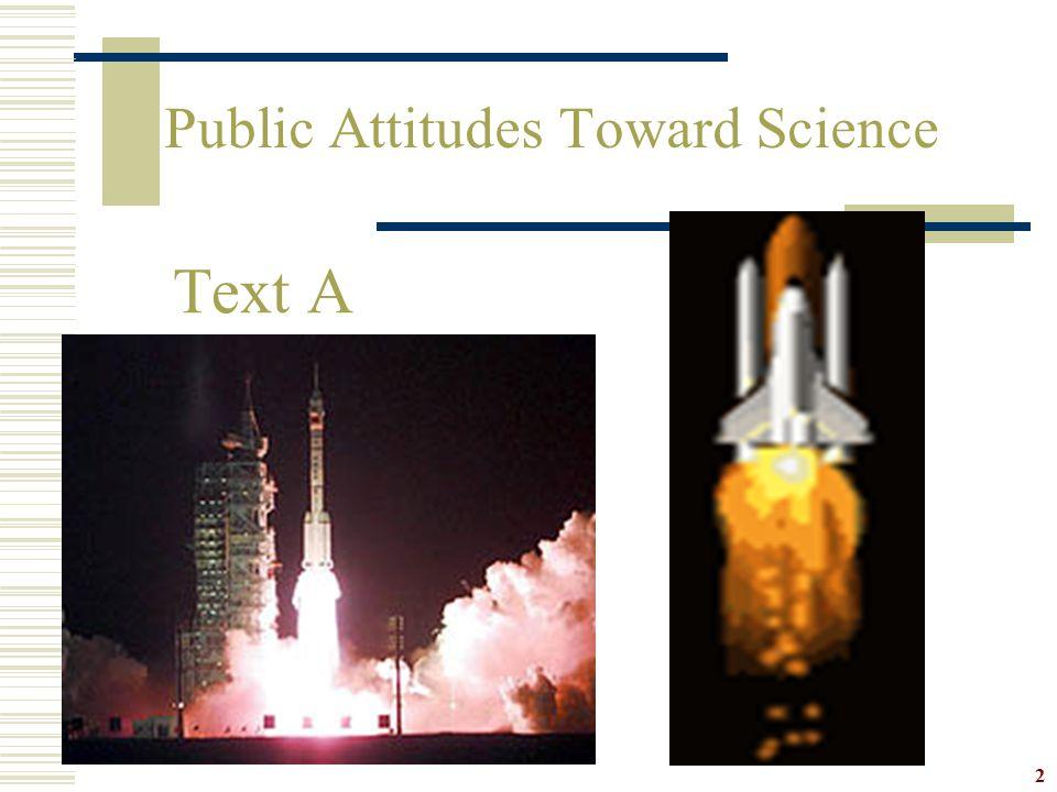 Public Attitudes Toward Science