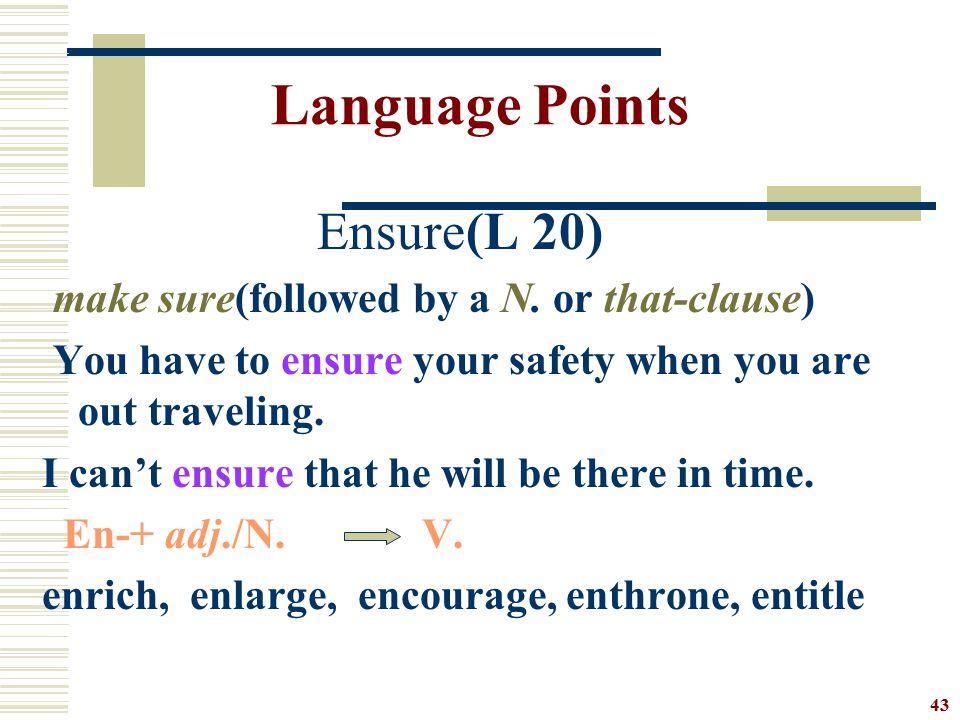 Language Points Ensure(L 20)