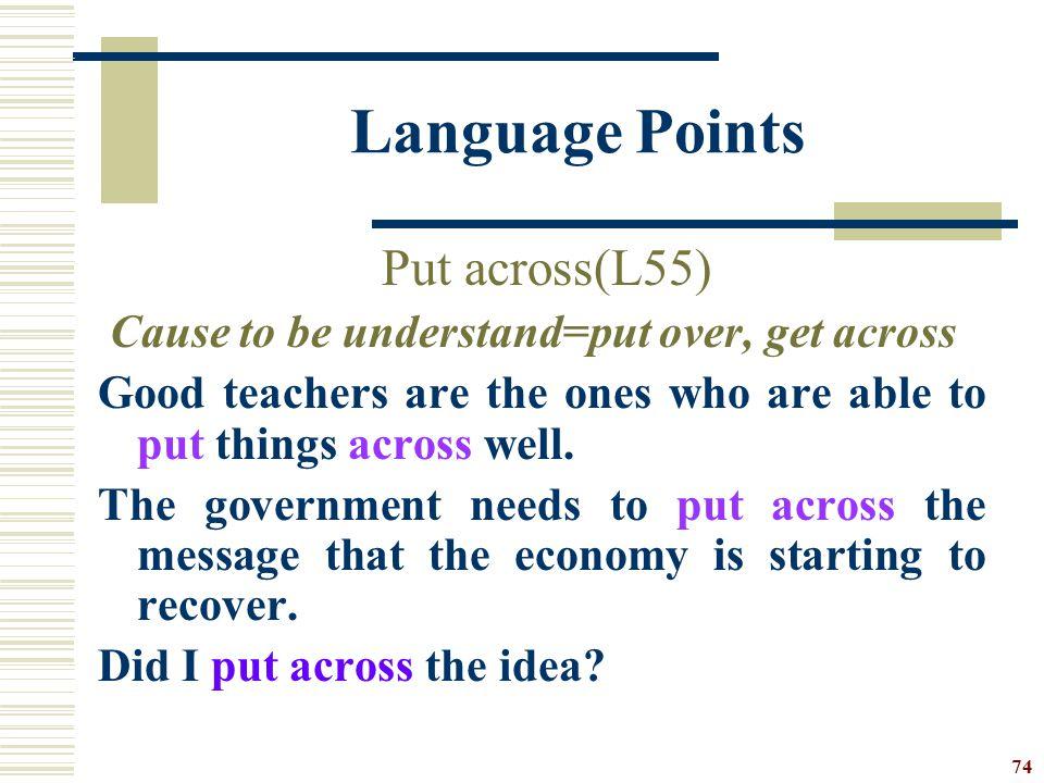 Language Points Put across(L55)