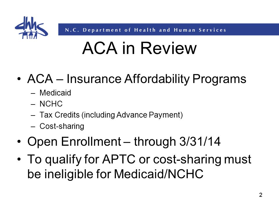 ACA in Review ACA – Insurance Affordability Programs