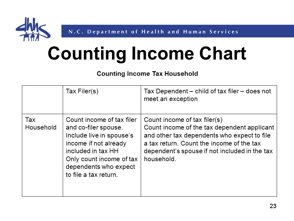 Counting Income Tax Household
