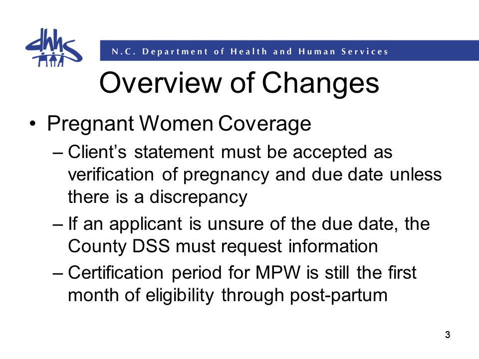Overview of Changes Pregnant Women Coverage