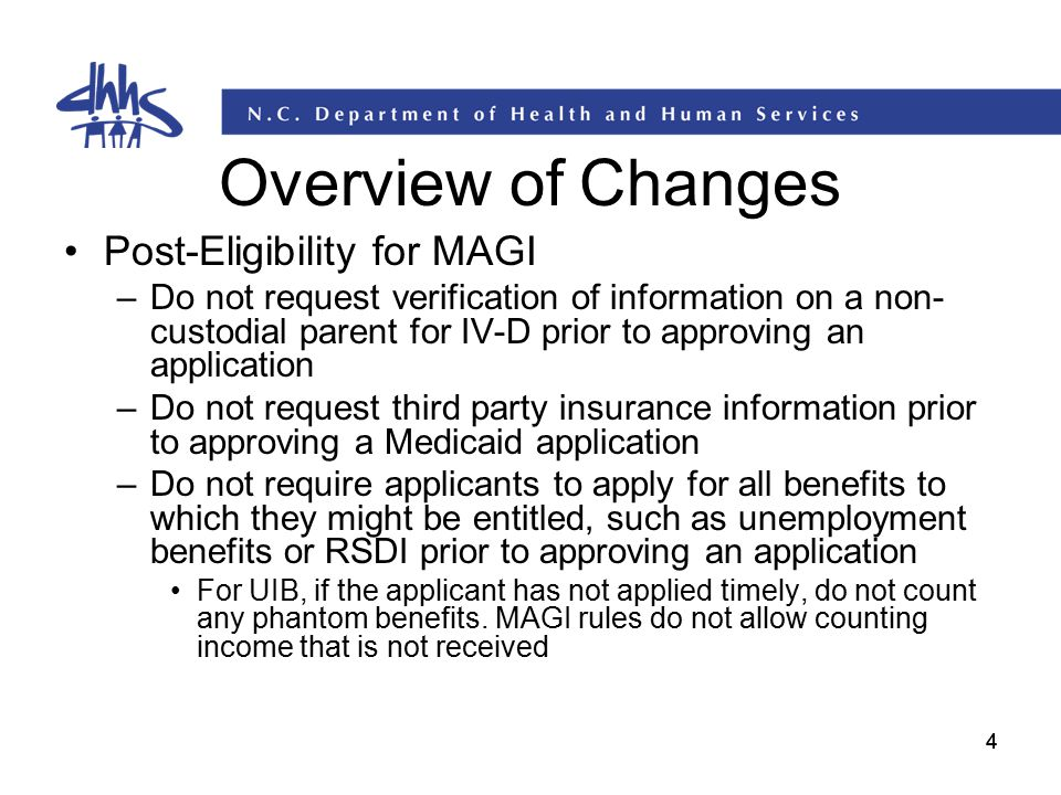 Overview of Changes Post-Eligibility for MAGI