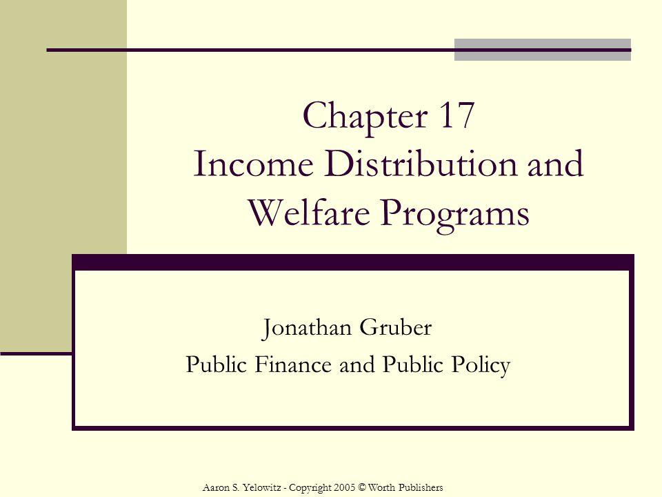 Chapter 17 Income Distribution and Welfare Programs