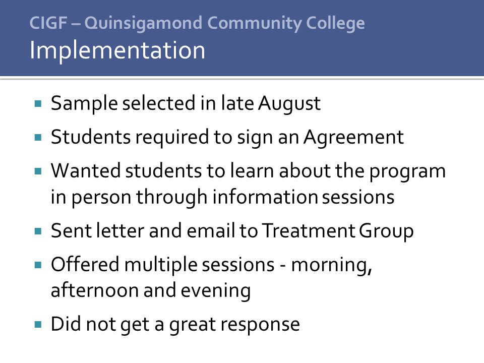 CIGF – Quinsigamond Community College