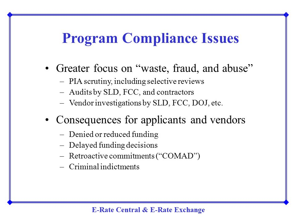 Program Compliance Issues