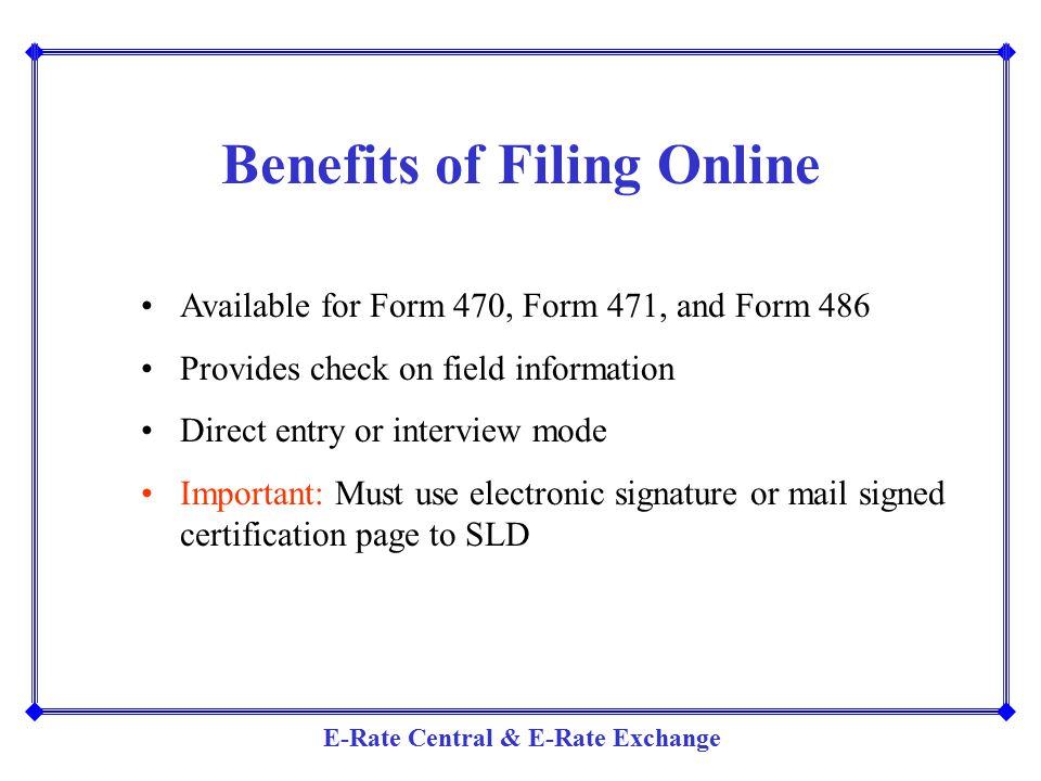 Benefits of Filing Online