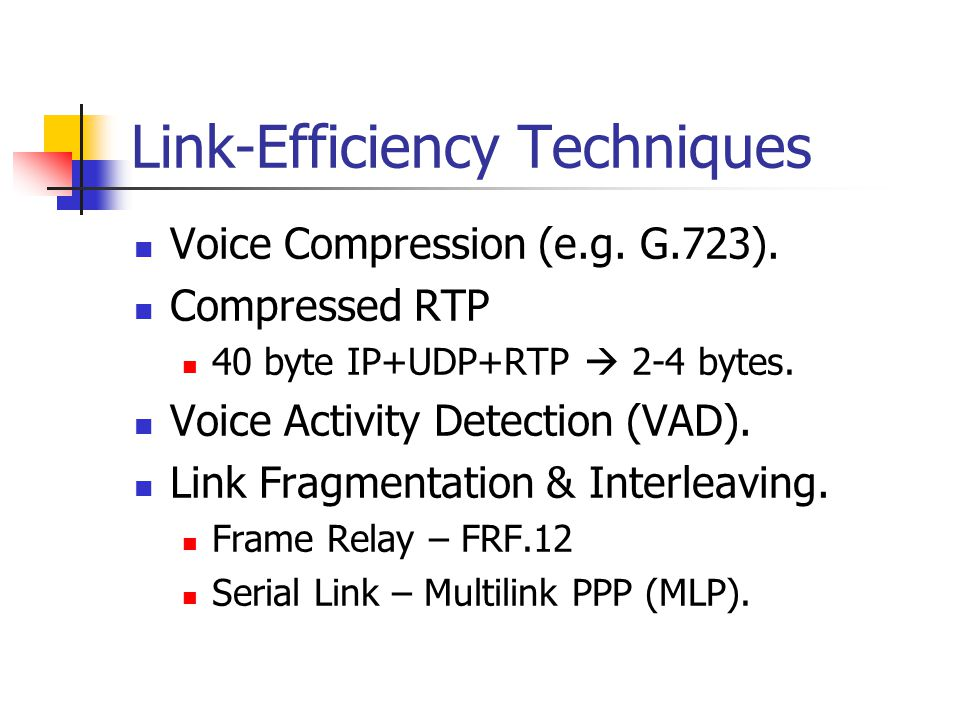 Link-Efficiency Techniques