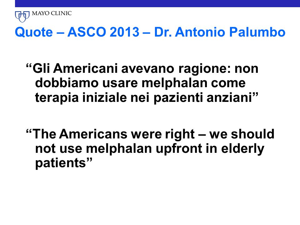 Quote – ASCO 2013 – Dr. Antonio Palumbo