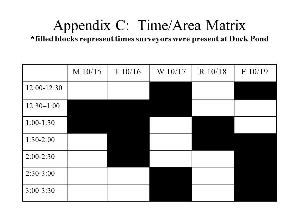 Appendix C: Time/Area Matrix