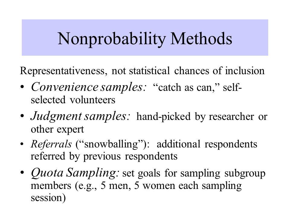 Nonprobability Methods