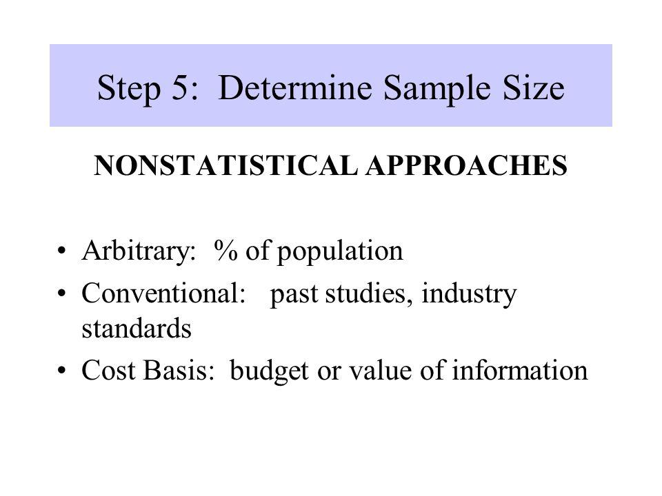 Step 5: Determine Sample Size