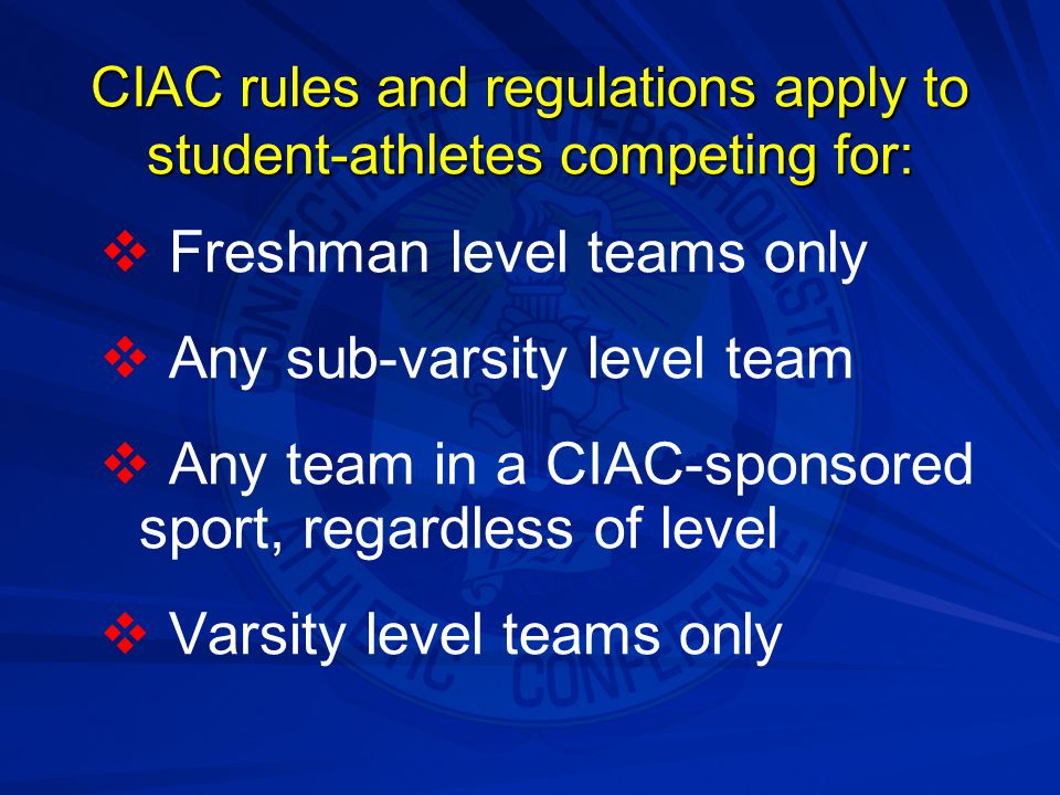 CIAC rules and regulations apply to student-athletes competing for: