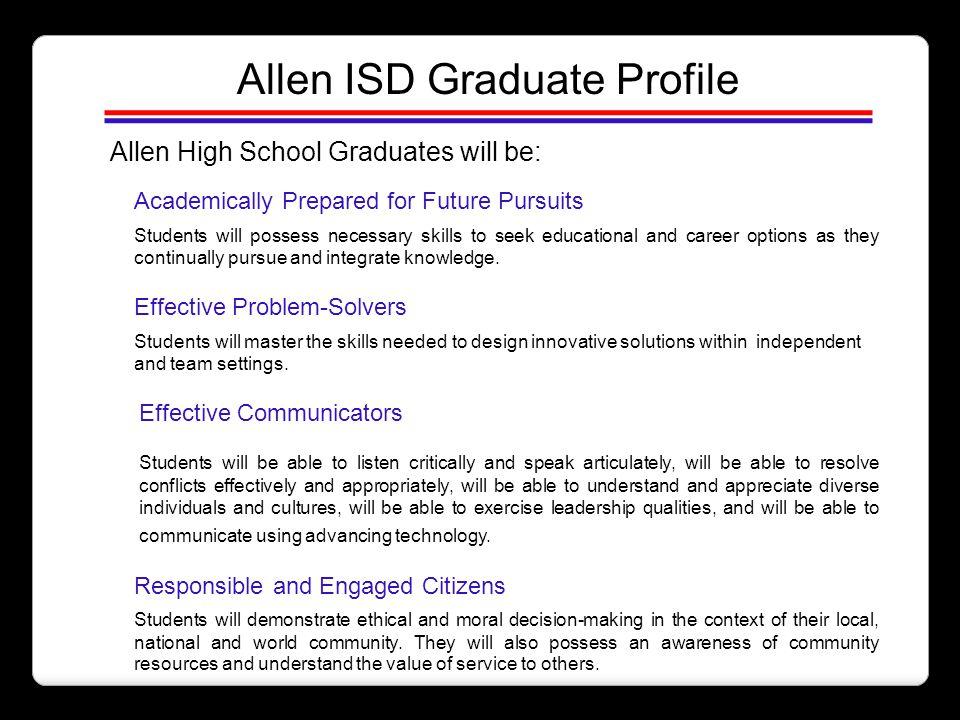 Allen ISD Graduate Profile