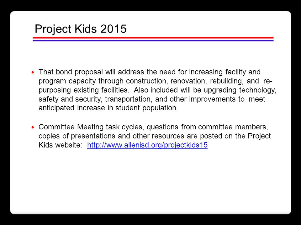 Project Kids 2015