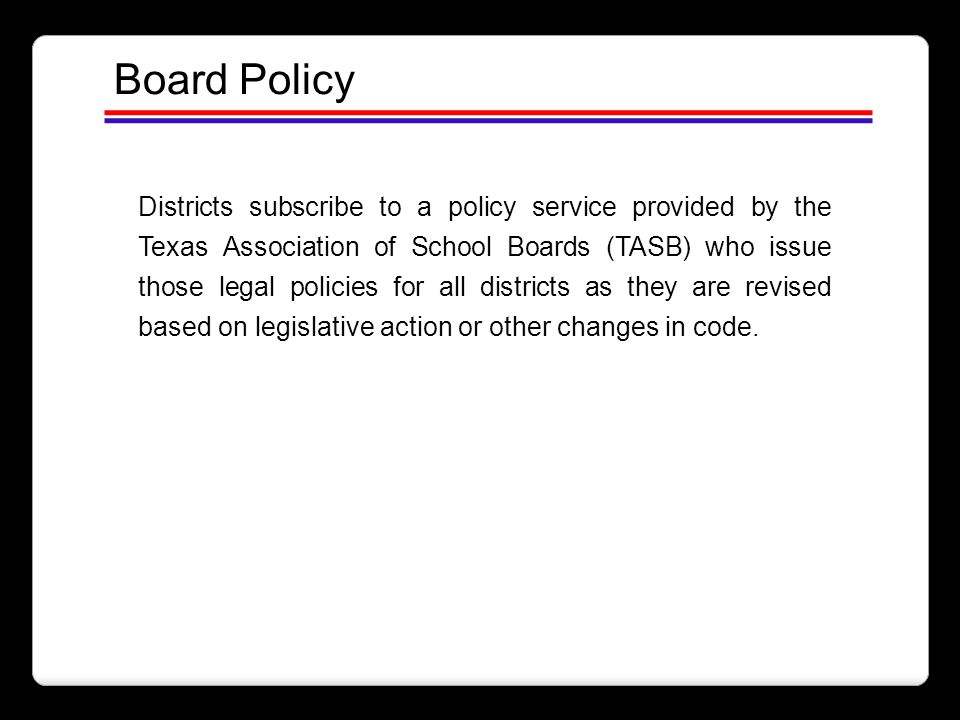 Board Policy