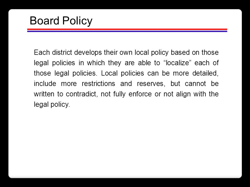 Board Policy