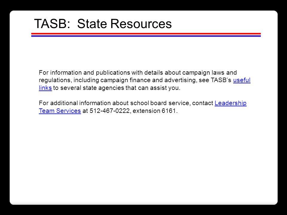 TASB: State Resources