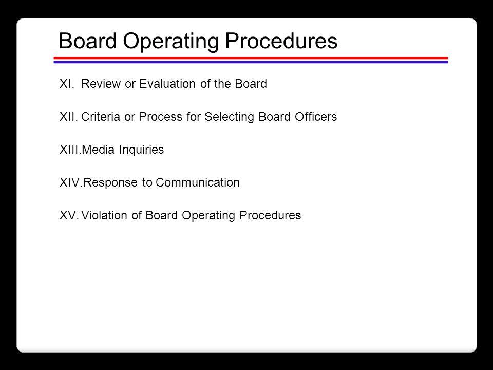 Board Operating Procedures