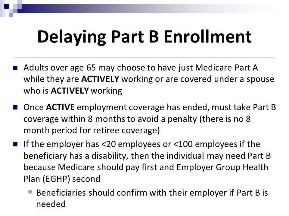 Day 6 7 public benefits ppt download delaying part b enrollment ccuart Image collections