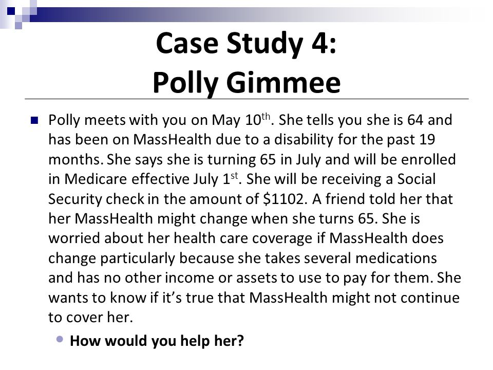 Case Study 4: Polly Gimmee