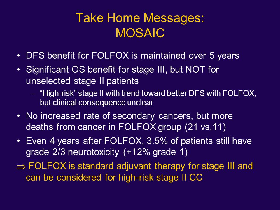 Take Home Messages: MOSAIC
