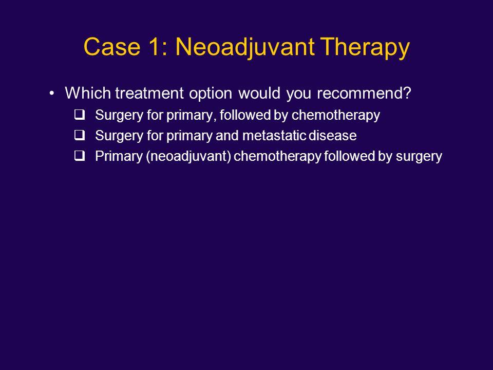 Case 1: Neoadjuvant Therapy