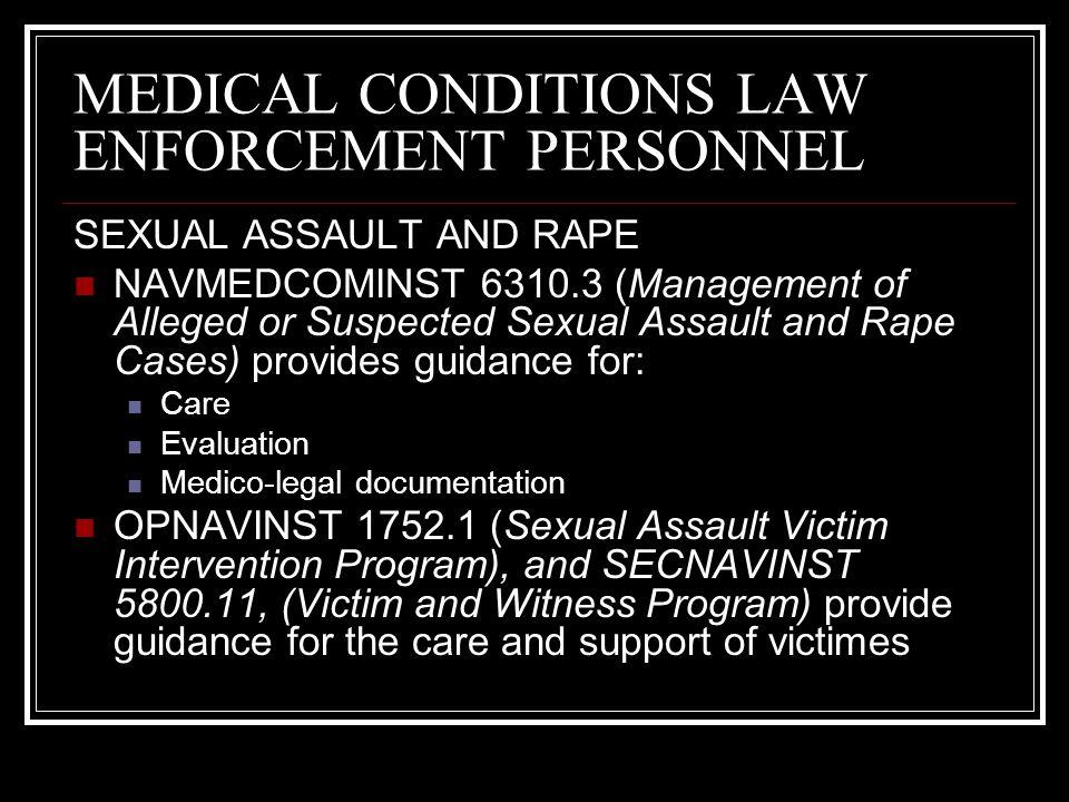 MEDICAL CONDITIONS LAW ENFORCEMENT PERSONNEL