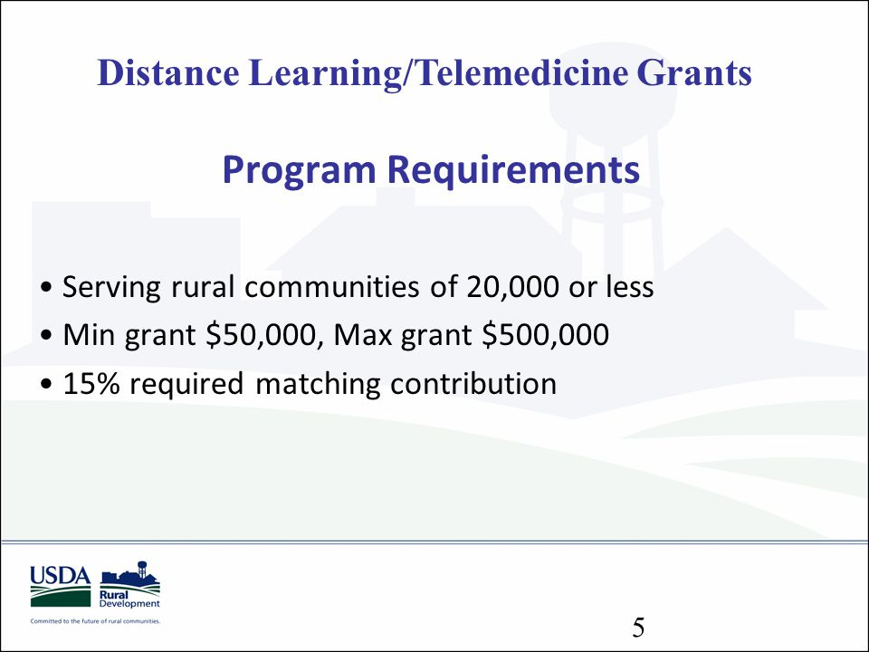 Distance Learning/Telemedicine Grants