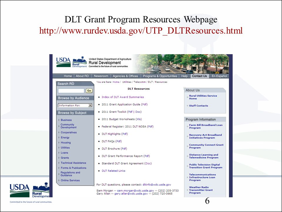 DLT Grant Program Resources Webpage