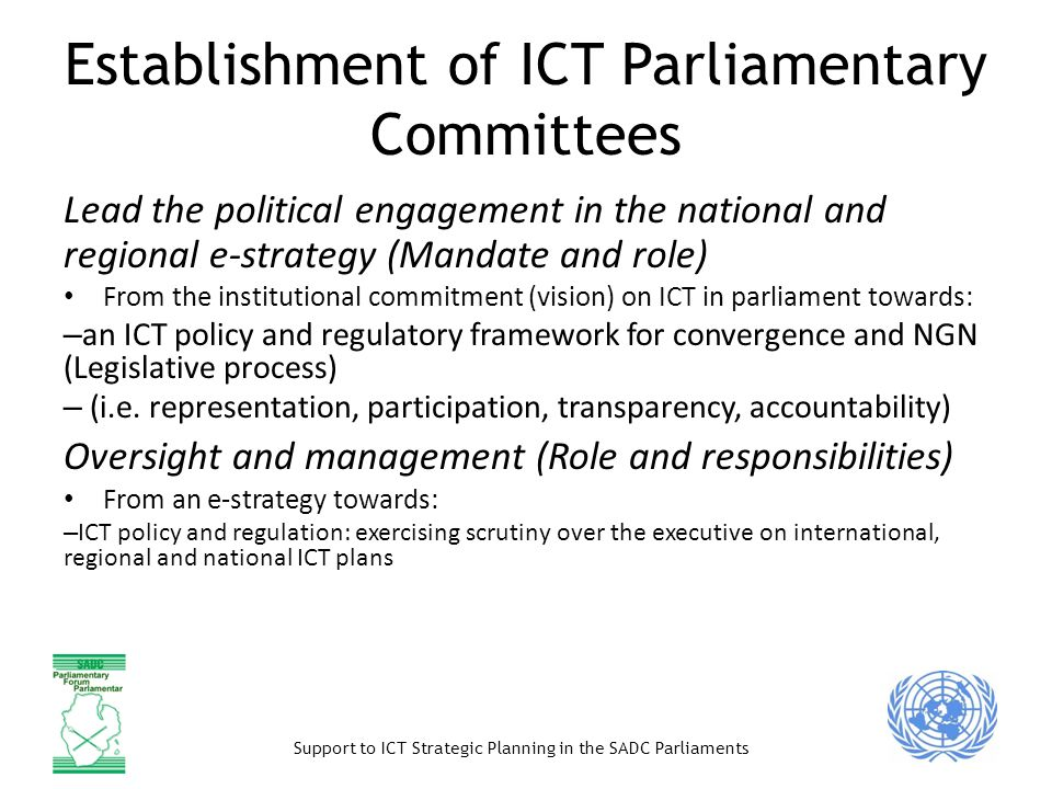 Establishment of ICT Parliamentary Committees
