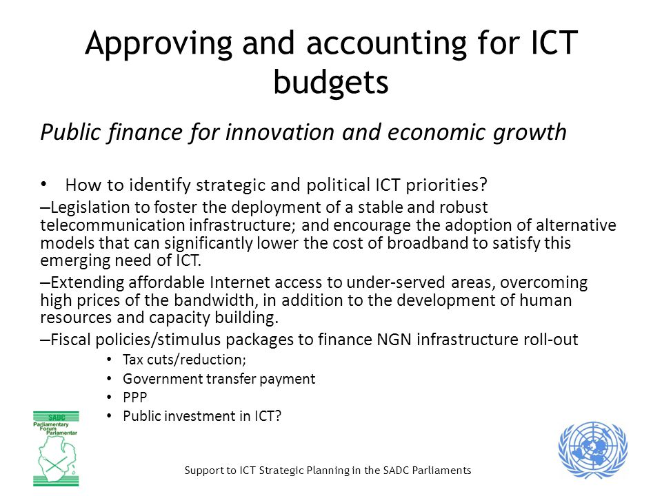 Approving and accounting for ICT budgets