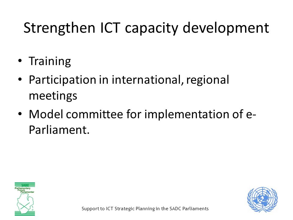 Strengthen ICT capacity development