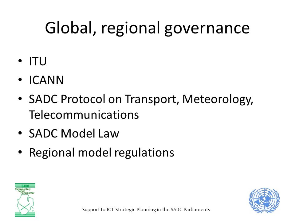 Global, regional governance