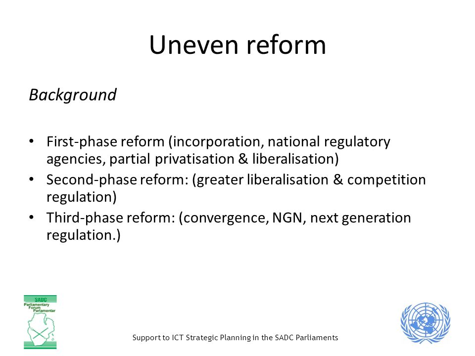 Uneven reform Background