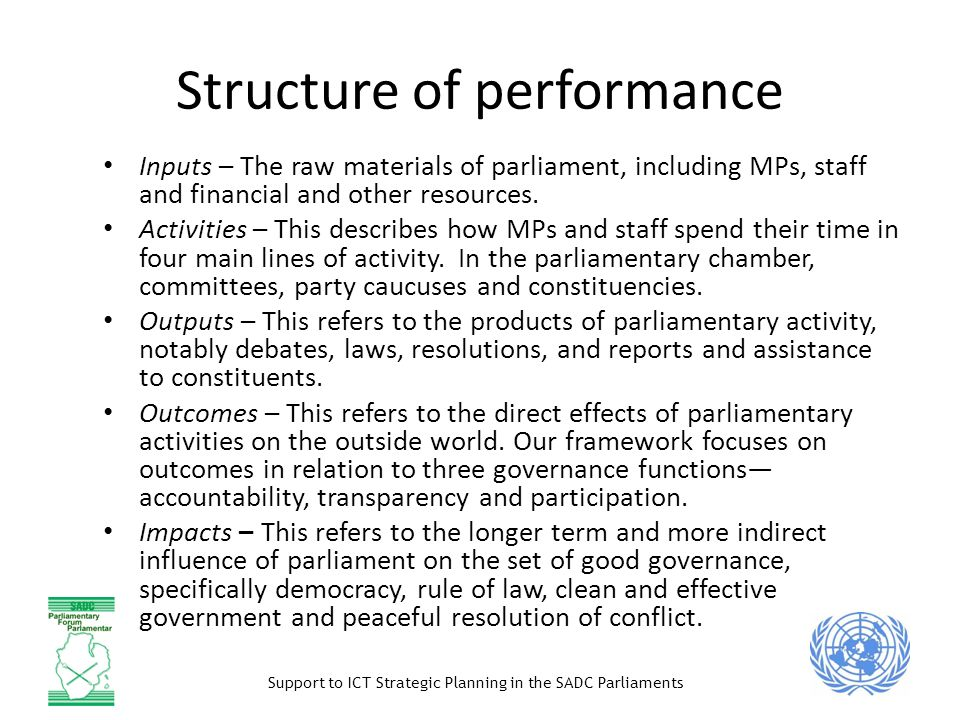Structure of performance