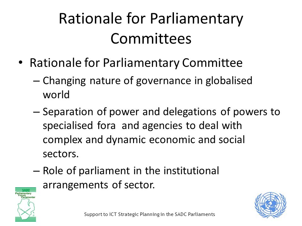 Rationale for Parliamentary Committees