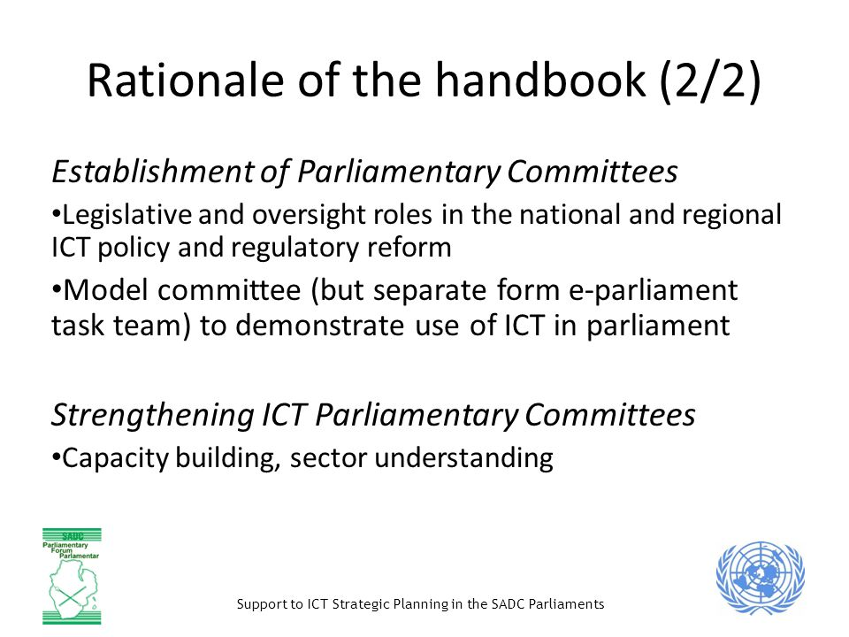 Rationale of the handbook (2/2)