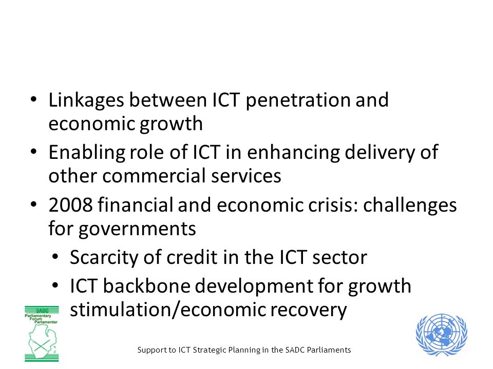 ICT as a contribution to economic growth (macro)