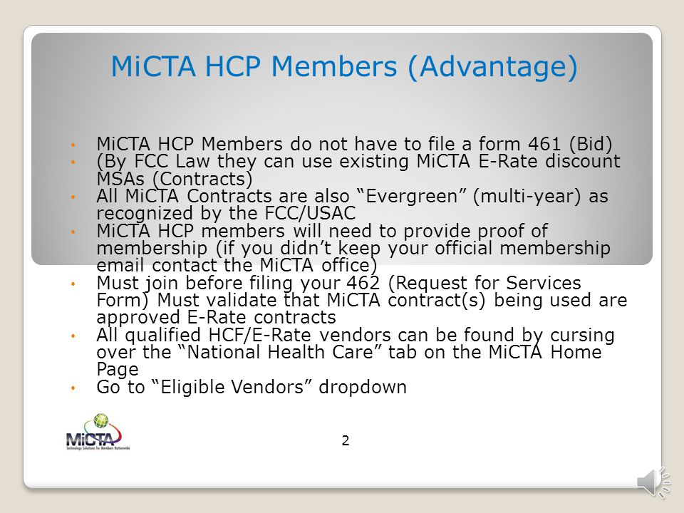 MiCTA HCP Members (Advantage)