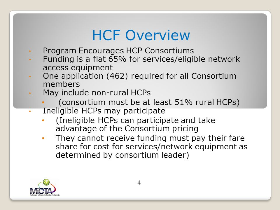 HCF Overview Program Encourages HCP Consortiums