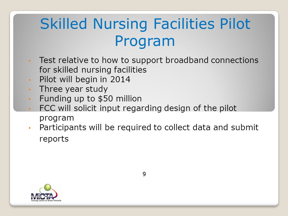 Skilled Nursing Facilities Pilot Program