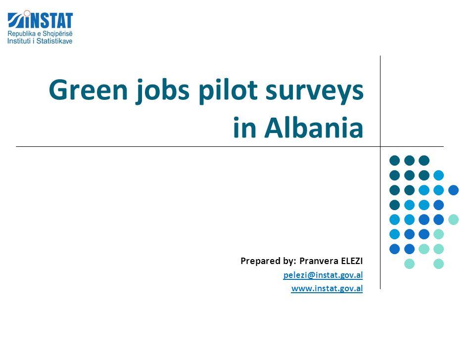 Green jobs pilot surveys in Albania