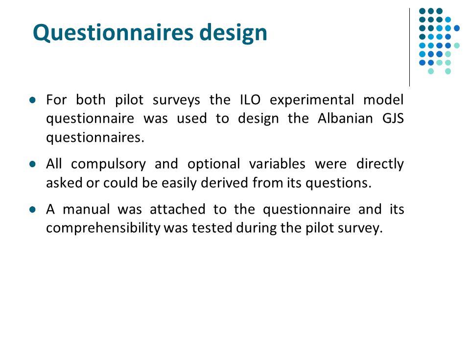 Questionnaires design