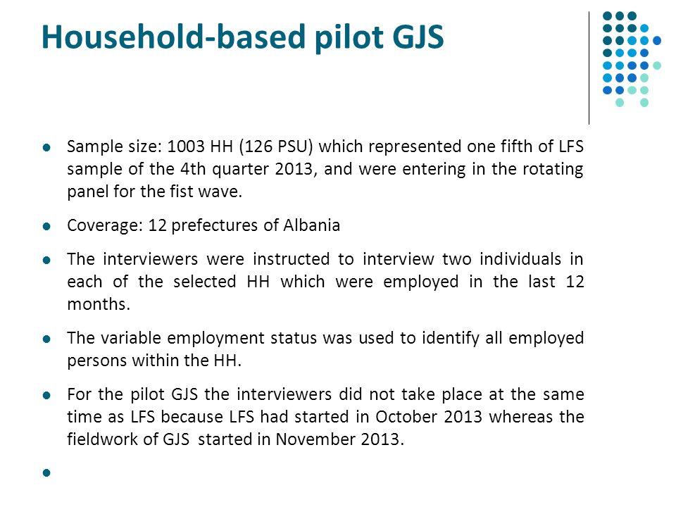 Household-based pilot GJS